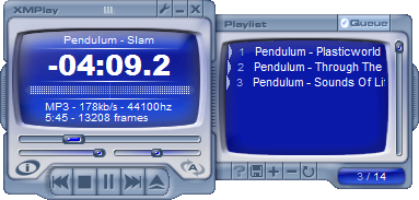 Playlist panel, only showing queued files