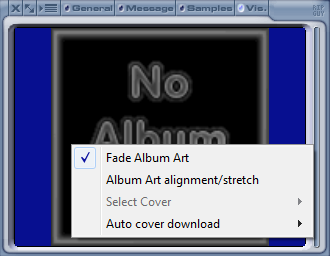 Configuration menu - xmp-coverart